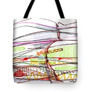 Abstract Pen Drawing Forty-five Tote Bag