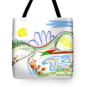 Abstract Pen Drawing Forty-four Tote Bag