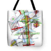 Abstract Pen Drawing Forty-nine Tote Bag