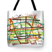 Abstract Pen Drawing Forty-seven Tote Bag