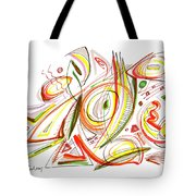 Abstract Pen Drawing Forty-six Tote Bag