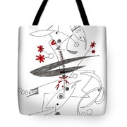 Abstract Pen Drawing Seventy-eight Tote Bag