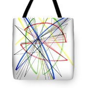 Abstract Pen Drawing Seventy-five Tote Bag
