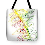 Abstract Pen Drawing Seventy-one Tote Bag