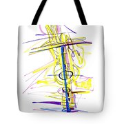 Abstract Pen Drawing Seventy-two Tote Bag