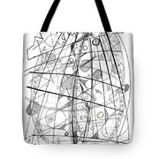 Abstract Pen Drawing Sixty-eight Tote Bag