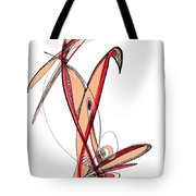 Abstract Pen Drawing Sixty-five Tote Bag