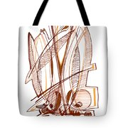 Abstract Pen Drawing Sixty-four Tote Bag