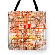 Abstract Pen Drawing Sixty-one Tote Bag