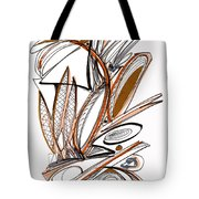 Abstract Pen Drawing Sixty-six Tote Bag