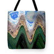 Abstract - Penguins On Ice Tote Bag