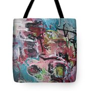Abstract Pink Blue Painting Tote Bag
