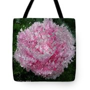 Abstract Pink Flower Tote Bag