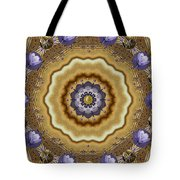 Abstract Pond In Gold Tote Bag