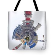 Abstract Construction Power Plant Tote Bag