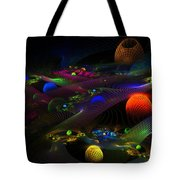 Abstract Psychedelic Fractal Art Tote Bag