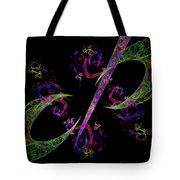 Abstract Psychedelic Modern Art Tote Bag