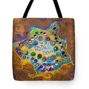 Abstract Rain Drop Tote Bag