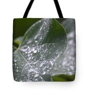 Abstract Rain Glitter Tote Bag