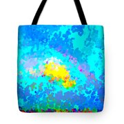 Abstract Rainbow And Clouds Tote Bag