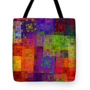 Abstract - Rainbow Bliss - Fractal - Square Tote Bag