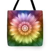 Abstract Rainbow Flower Tote Bag