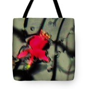 Abstract Red And Black Tote Bag