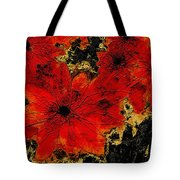 Abstract Red Flower Art  Tote Bag