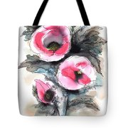 Abstract Red Poppies Tote Bag
