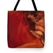 Abstract Red Sandstone Formations Lower Antelope Slot Tote Bag