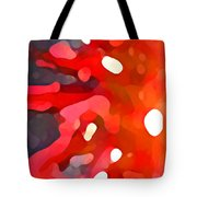 Abstract Red Sun Tote Bag