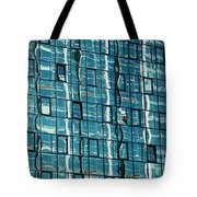 Abstract Reflections In Windows Tote Bag