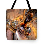 Abstract Ring Connections Tote Bag