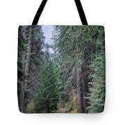 Abstract Road In The Wilderness Tote Bag