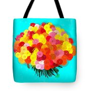 Abstract Roses Tote Bag
