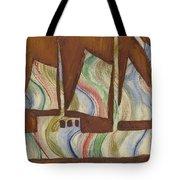 Abstract Sailboat Tote Bag