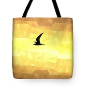 Abstract Seagull Flight Tote Bag