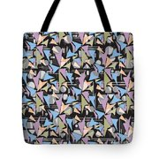 Abstract Shapes Collage Tote Bag