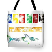 Abstract Shark Tote Bag