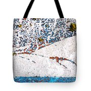 Abstract Snow Storm Tote Bag