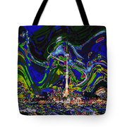 Abstract Some Where In Galaxy Light Years Away Launching A Satellite To Connect With The Earth Tote Bag