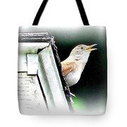 Abstract Songbird Tote Bag