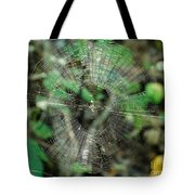 Abstract Spider Web Tote Bag