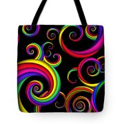 Abstract - Spirals - Inside A Clown Tote Bag by Mike Savad