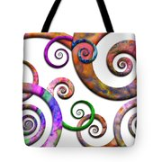 Abstract - Spirals - Planet X Tote Bag