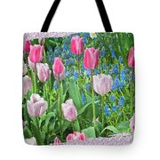Abstract Spring Floral Fine Art Prints Tote Bag