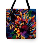 Abstract Sunflowers Tote Bag