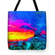 Abstract Sunset As A Painting Tote Bag