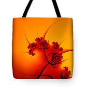 Abstract Sunset Fractal Tote Bag