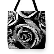 Dark Star Roses For David Bowie Tote Bag